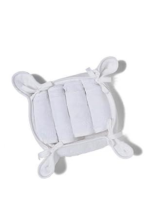 HomeTrends Juego 4 toallas Emilia (Blanco)