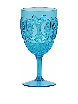 Sheratonn Kelch 6er Set Deco blau
