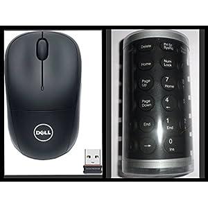 Dell Solid State Wireless Optical Usb Mouse Blue eye technology + Folding Keyboard Foldable keyboard Pc Laptop Desktop
