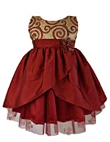 Faye Maroon & Gold Celebration Dress 6-9 Months