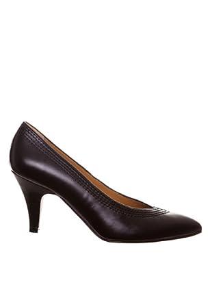 Paco Herrero Zapatos Salón Pespuntes (Negro)
