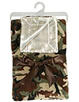 Stephan Baby Super Soft Fleece Crib Blanket And Security Blankie Set, Camo Print By Stephan Baby