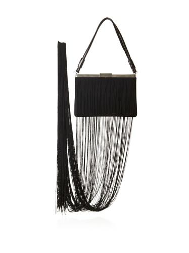 JIL SANDER Women's Fringed Hand Bag (Black)
