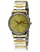 Sonata  Analog Champagne Dial Men's Watch -  1013BM13