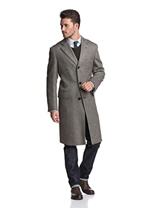 Brioni Men's 3-Button Overcoat (Brown)
