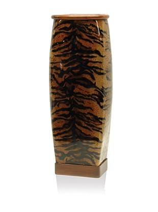 Palecek Tiger-Stripe Tall Urn, Brown/Black