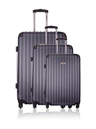 Travel ONE Set de 3 trolleys rígidos Aligara Gris
