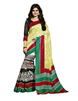 Multi Color Art Bahgalpur Silk Saree with Blouse 12526