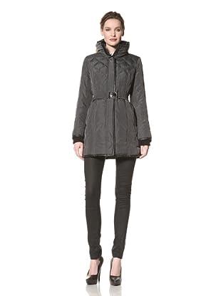 Kensie Women's Quilted Down Coat (Charcoal)