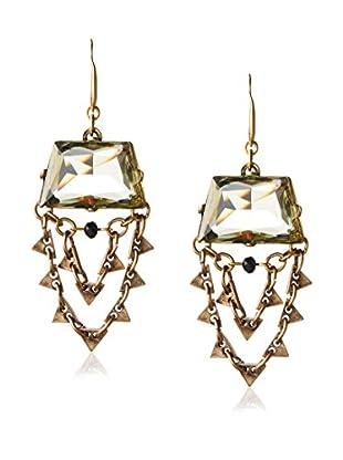 David Aubrey Smoky Chain Chandelier Earrings