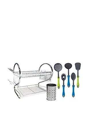 SOLER HISPANIA Set, 7-tlg. Abtropfsieb mit Küchenhelfern und Box
