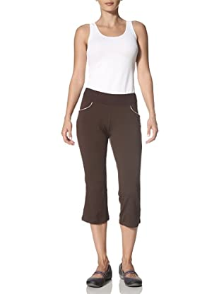 New Balance Yoga Women's Sequin Capri Pant (Coffee)
