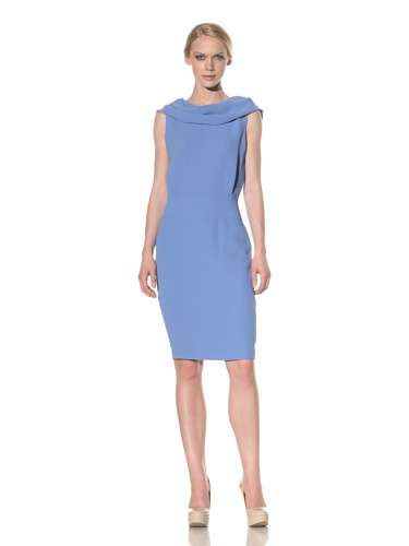 Rachel Roy Women's Sleeveless Drape Dress (Matisse Blue)