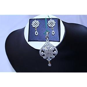 eNV American Diamond elegant pendent set jewellery Set