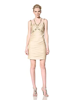Mikael Aghal Women's Pleated Cocktail Dress (Wheat)