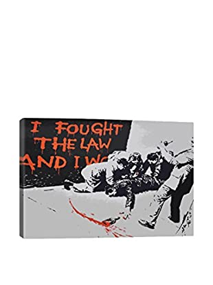Banksy I Fought The Law And I Won Gallery Wrapped Canvas Print