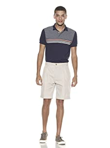 French Connection Men's Nyco Twill Modern Shorts (Stone)