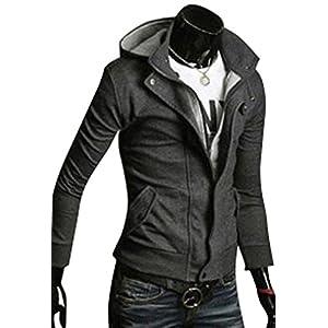 Men'S Slim Top Designed Sexy Hoody Jacket Coat Outwear Tops 2Color 4Size S0941