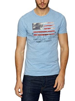 Schott NYC Camiseta Reynald (Azul)