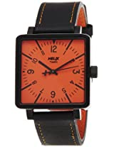 Helix Square Analog Orange Dial Men's Watch - 11HG03