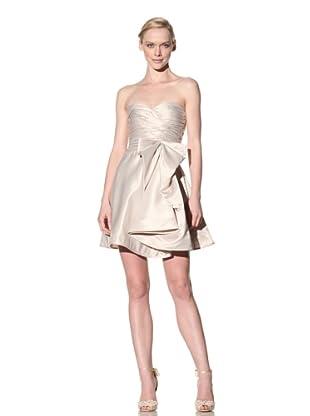 ABS by Allen Schwartz Women's Strapless Bow Dress (Champagne)