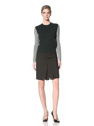 ALTUZARRA Women's Contrast Gypsy Sweater (Grey/ Green)