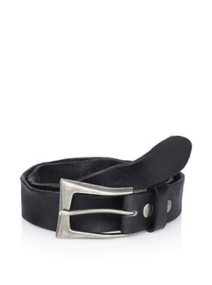 Bed Stu Women's Tamera Twisted Leather Belt (Black)