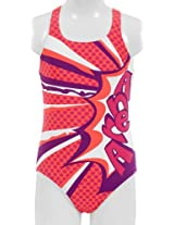 Arena Marseille Textile Swimsuit, Youth 10 Years (Grape/Violet/Fluo Red)