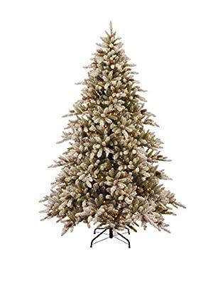 National Tree Company 9' Snowy Concolor 950-Light Fir Hinged Tree