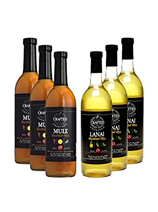 Crafted Cocktails 6-Pack Mule & Lanai All Natural Low Calorie Cocktail Mix