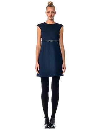 Eccentrica Kleid mit Gürtel (Blau)