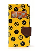 Fonokase Case for Apple iPhone 5 & 5S 5 S Fancy Flip Type Yellow Color