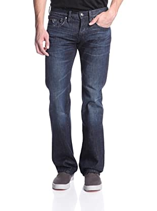 Jimmy Taverniti Men's Raw Vintage Boot Cut Jean (Navy)