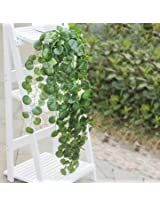 Artificial Ivy Flower Leaf Garland Home Garden Decoration (Crabapple )