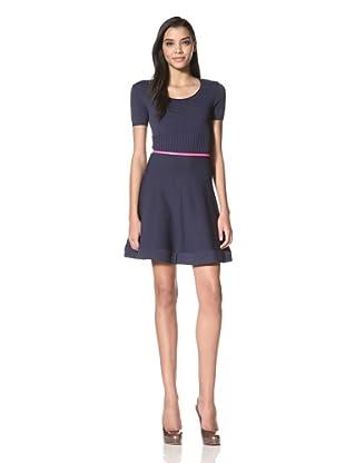 Z Spoke Women's Circle Dress (Navy)
