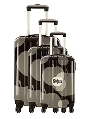 Les Beatles By Platinium Set 3 Trolley 4 Ruedas Apple (Negro)
