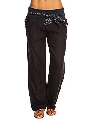 100% Linen Pantalone Emeraude