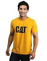 CAT MEN SLIM FIT TEE (2510412_YEL_XL)