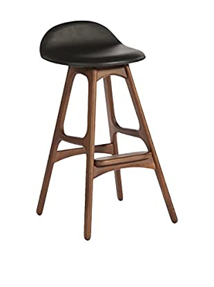 Aeon Euro Home Collection Torbin-1 Counter Stool, Black/Walnut