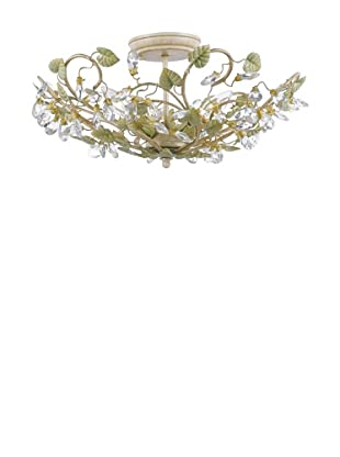 Gold Coast Lighting Champagne Green Tea Semi Flush Mount