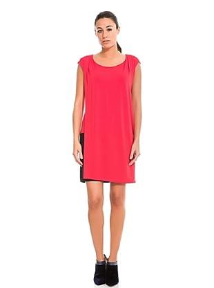 Cortefiel Vestido Bicolor (Rojo)