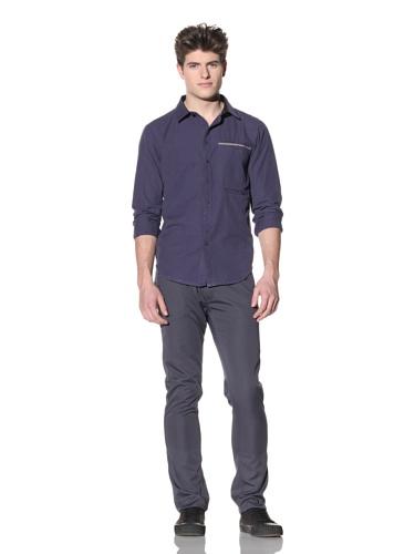 ZAK Men's Long Sleeve Woven Shirt (Blue)