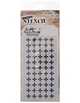 """Stampers Anonymous Tim Holtz Layered Plus Stencil, 4.125"""" X 8.5"""" ..."""