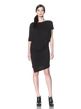 Improvd Women's Draped Jersey Dress (Black)