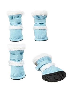 Pet Life Shearling Duggz Dog Shoes (Blue/White)