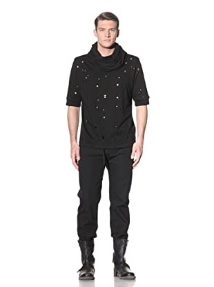 Ann Demeulemeester Men's Perforated Hooded Top