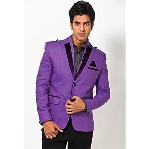 Purple Slim Fit Blazer