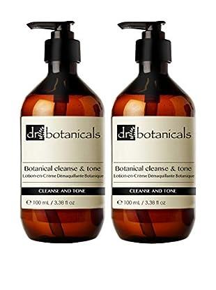 Dr Botanicals Make Up Entferner 2er Set Cleanse & Tone 200 ml, Preis/100 ml: 22.47 EUR