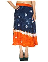 Rajrang Indian Dress Wrap Around Skirt Knee Long Printed Wrap Skirt Open waist