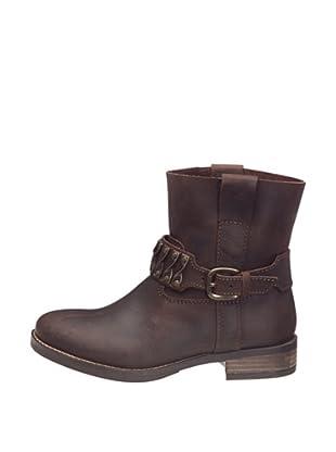 Buffalo London ES 11051 CRAZY HORSE 123428 - Botas de cuero para mujer (Marrón)